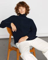 Jigsaw Cashmere Slouchy Turtle Neck Jumper