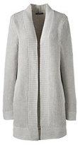 Classic Women's Petite Long Shaker Cardigan Sweater-Burgundy
