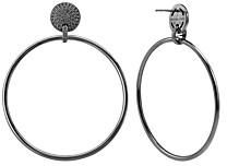 Michael Kors Frontal Large Hoop Earrings in 14K Gold-Plated Sterling Silver or Black Ruthenium-Plated Sterling Silver