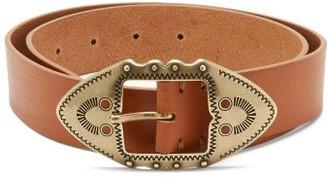 Isabel Marant Bucky Western-buckle Leather Belt - Tan