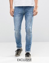 Hero's Heroine Heros Heroine Skinny Jeans With Paint Splatter