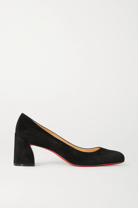 Christian Louboutin Miss Sab 55 Suede Pumps - Black
