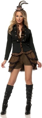 Mystery House Women's Plus-Size Steampunk Lady Deluxe