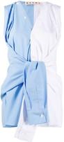 Marni tie front sleeveless blouse
