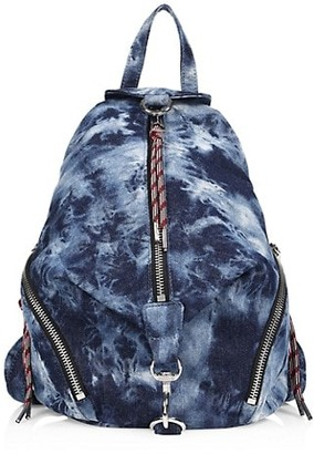 Rebecca Minkoff Medium Julian Tie-Dye Denim Backpack
