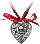 Alchemy Gothic Reliquary Heart Locket Pendant w/ Necklace