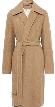 Helmut Lang Belted Brushed Alpaca And Wool-blend Coat