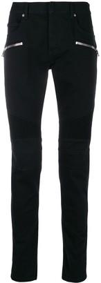 Balmain Biker-Style Skinny Jeans