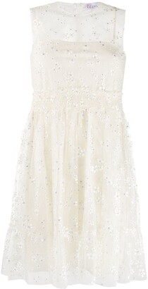 RED Valentino Sheer-Panel Lace Dress