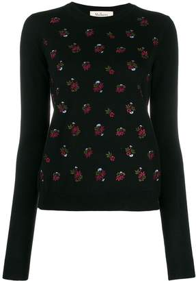 Mulberry floral embroidered sweater