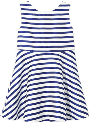 Jacadi Paris Lunabis Striped Satin Dress