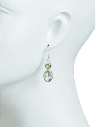 Made In India Sterling Silver Peridot Green Amethyst Earring