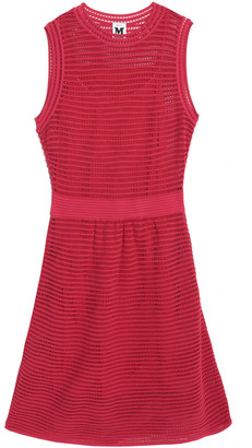 M Missoni Ribbed Pointelle-knit Dress