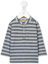Gold - striped henley T-shirt - kids - Cotton/Wool - 9 mth