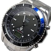 Elgin solar radio controlled watch Men's Watch FK1400S-BLP Black / Blue