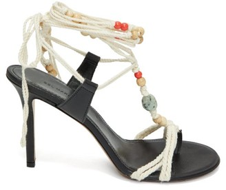 Isabel Marant Amopi Bead-embellished Rope Sandals - White