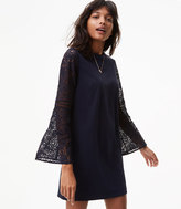LOFT Lace Bell Sleeve Shift Dress