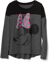 Gap GapKids | Disney Mickey Mouse and Minnie Mouse embellished colorblock tee