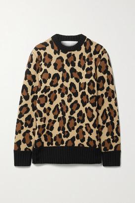 Michael Kors Collection Leopard-jacquard Cashmere Sweater - Leopard print