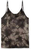 ATM Anthony Thomas Melillo Tie-dyed Crinkled Silk-charmeuse Camisole - Black