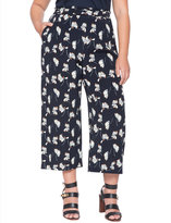 ELOQUII Plus Size Printed Cropped Flare Pant