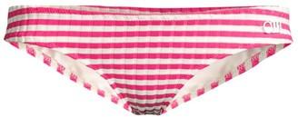 Solid And Striped The Elle Rib-Knit Stripe Bikini Bottom