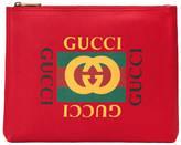 Gucci logo leather medium portfolio