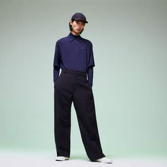 Lacoste Men's Fashion Show Wide Leg Wool Pants