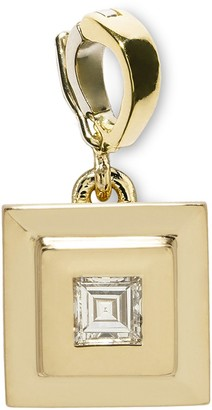 Azlee Carre Diamond Staircase Charm in Yellow Gold