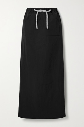 CHRISTOPHER ESBER Cargo Crystal-embellished Taffeta Maxi Skirt - Black