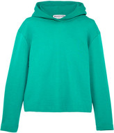 Balenciaga Suspended Cotton-terry Hooded Top - Green