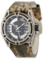 2xist Stainless Steel & Camo Leather Band Watch