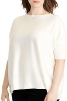 Lauren Ralph Lauren Plus Short-Sleeve Sweater