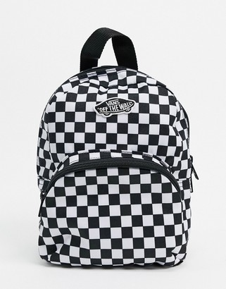Vans Got This mini check backpack in black