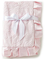 Starting Out Baby Girls Embossed Ruffle Blanket