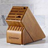 Crate & Barrel Wüsthof ® 17-Slot Walnut Knife Block