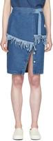 Sjyp Blue Denim Frayed Skirt