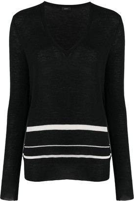 Joseph Striped Slim-Fit Jumper