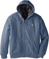 U.S. Polo Assn. Men's Sherpa Lined Full Zip Fleece Hoodie