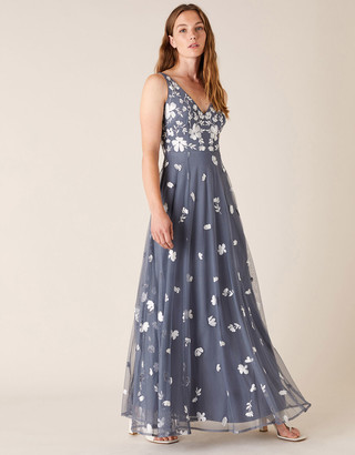 Under Armour Clemence Embroidered Maxi Dress Grey