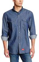Dickies Men's Flame Resistant Long Sleeve Denim Snap Front Shirt