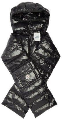 Moncler Hooded Quilted-down Scarf - Black
