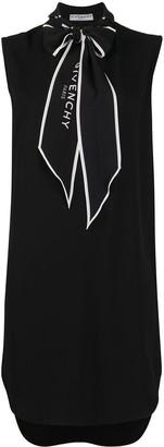 Givenchy Logo-Tie Pussy-Bow Dress