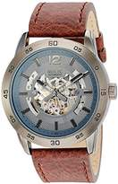 Relic Women's 'Kyle' Automatic Metal and Leather Casual Watch, Color:Brown (Model: ZR12234)