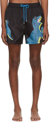Paul Smith Black Dino Swim Shorts