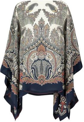 Etro Paisley silk crepe blouse