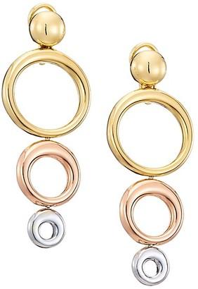 Plevé 18K Yellow White & Rose Gold Convertible Triple Drop Earrings