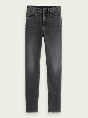 Scotch & Soda Haut high-rise recycled cotton skinny jeans Snowstorm | Women