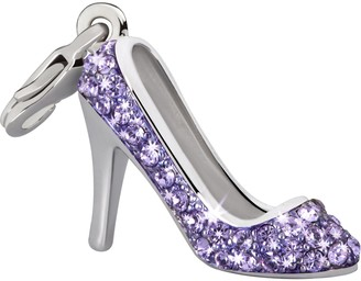 Glamour World Chain and Charm Pumps with Purple Swarovski Crystals