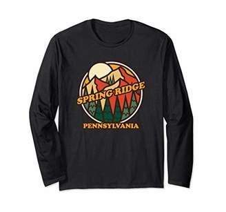Vintage Spring Ridge Pennsylvania Mountain Hiking Souvenir Long Sleeve T-Shirt